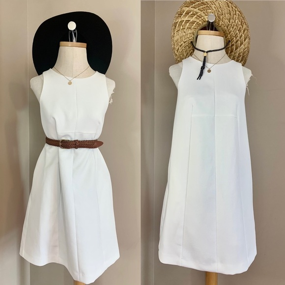 Ivory White Textured French Dress